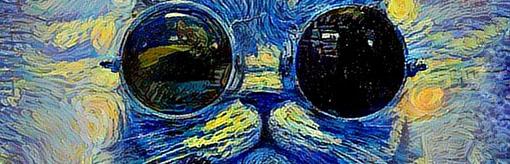 Kot na zdjęciu malowany przez uczenie maszynowe